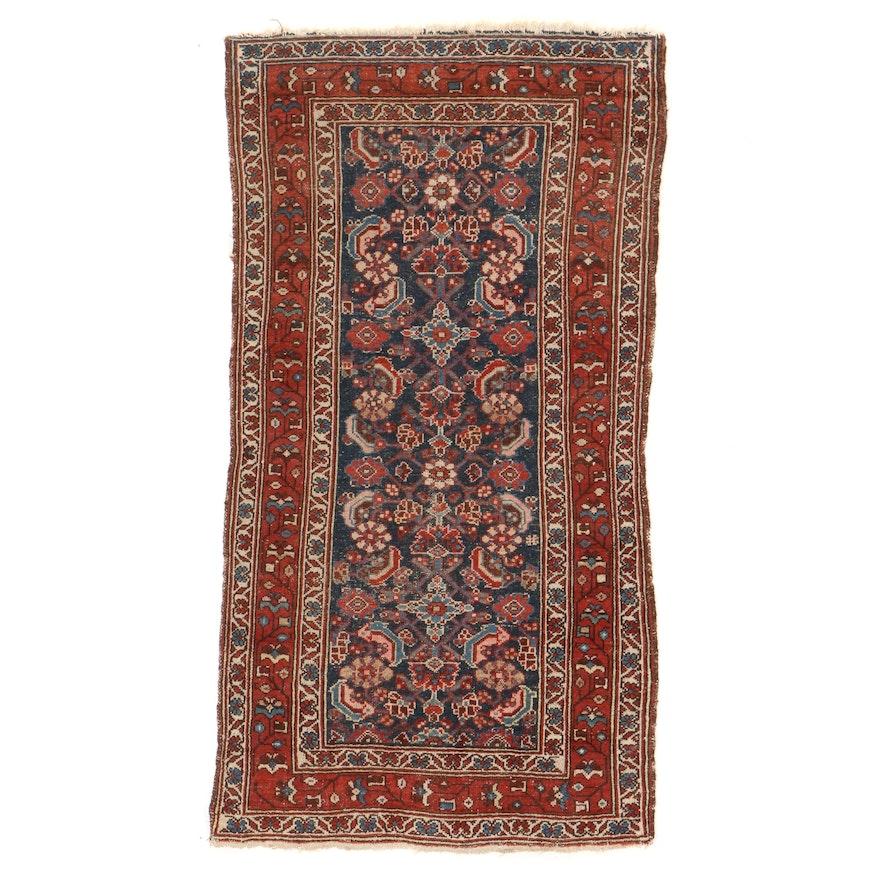 3'3 x 6'2 Hand-Knotted Persian Hamadan Herati Area Rug