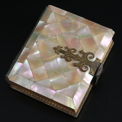 Victorian Mother-of-Pearl Cased Photo Album, Mid-Late 19th Century