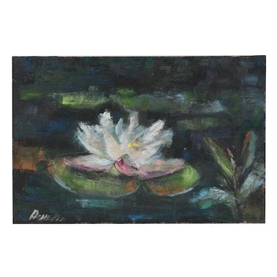 Natalia Demenko Oil Painting of Lily Pad