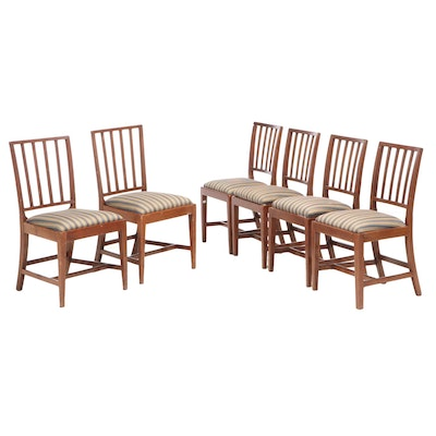 Six Hepplewhite Style Mahogany Side Chairs, Early 20th Century