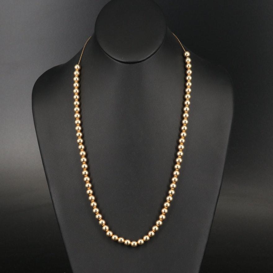 "Vintage 14K ""Add-a-Bead"" Necklace"