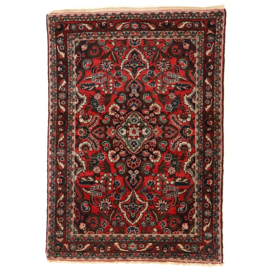 3'5 x 5'1 Hand-Knotted Persian Hamadan Area Rug