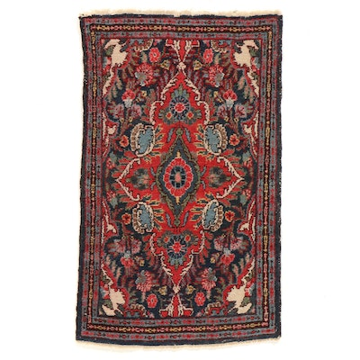 2' x 3'3 Hand-Knotted Persian Hamadan Accent Rug