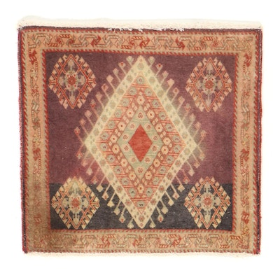 2' x 2'1 Hand-Knotted Persian Luri Accent Rug