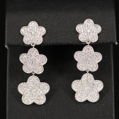 14K 2.43 CTW Diamond Graduated Drop Earrings