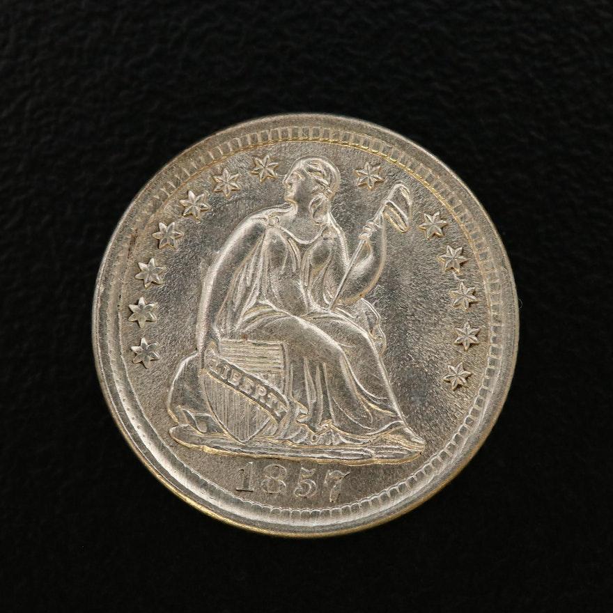 Seated Liberty Silver Half Dime, 1857