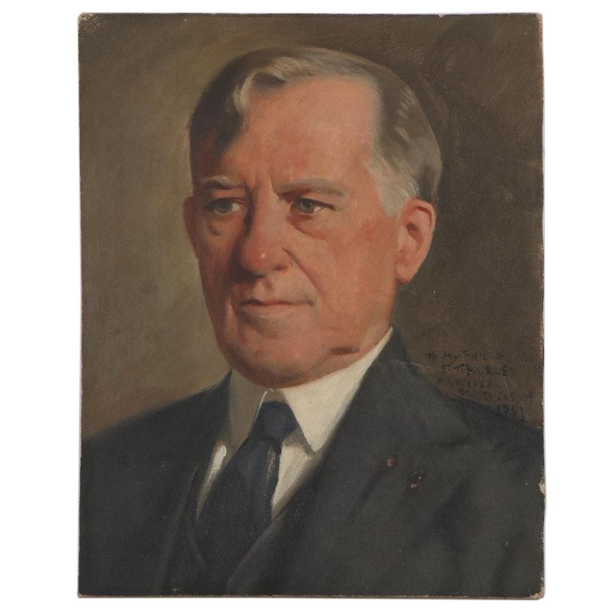 Herman Henry Wessel Oil Portrait of E.T. Hurley, 1941