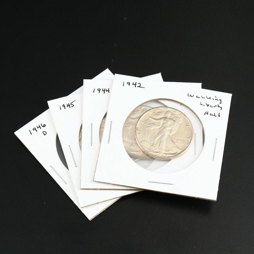 Uncirculated Walking Liberty Silver Half Dollars