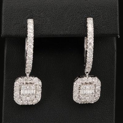 14K 3.32 CTW Diamond Earrings