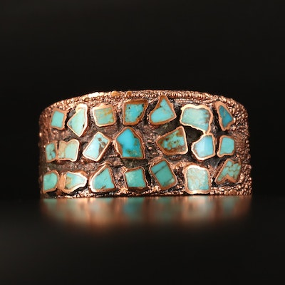 Bell Trading Post Copper Turquoise Cuff