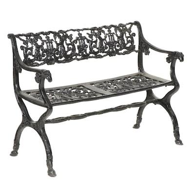 Scrolled Cast Iron Garden Bench