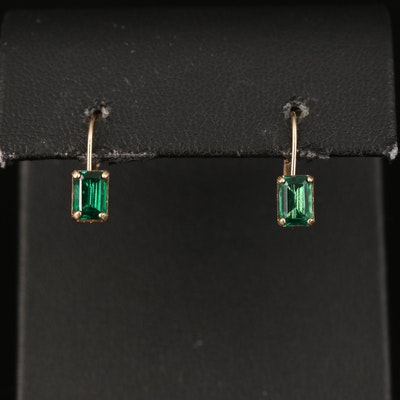 10K Emerald Earrings