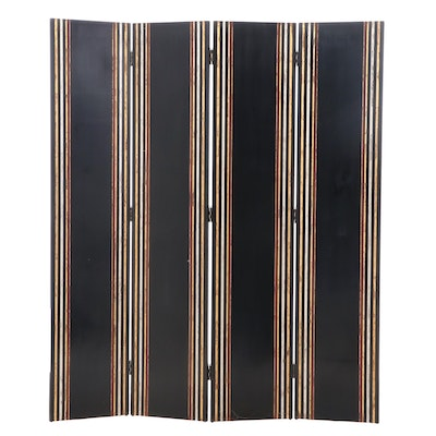 Maitland-Smith Lacquered Four-Panel Screen