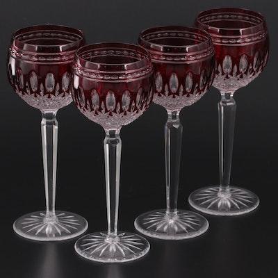 """Waterford """"Clarendon Ruby"""" Crystal Wine Hocks, 1997–2008"""