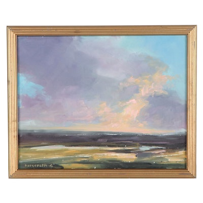 """Stephen Hedgepeth Oil Painting """"Colors in the Sky,"""" 2021"""