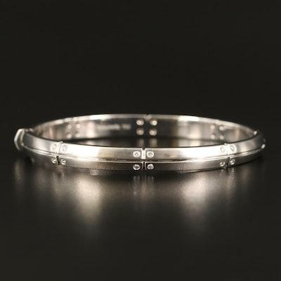 Tiffany & Co. 18K Diamond Hinged Bangle