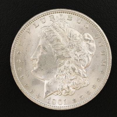 Uncirculated 1901-O Morgan Silver Dollar