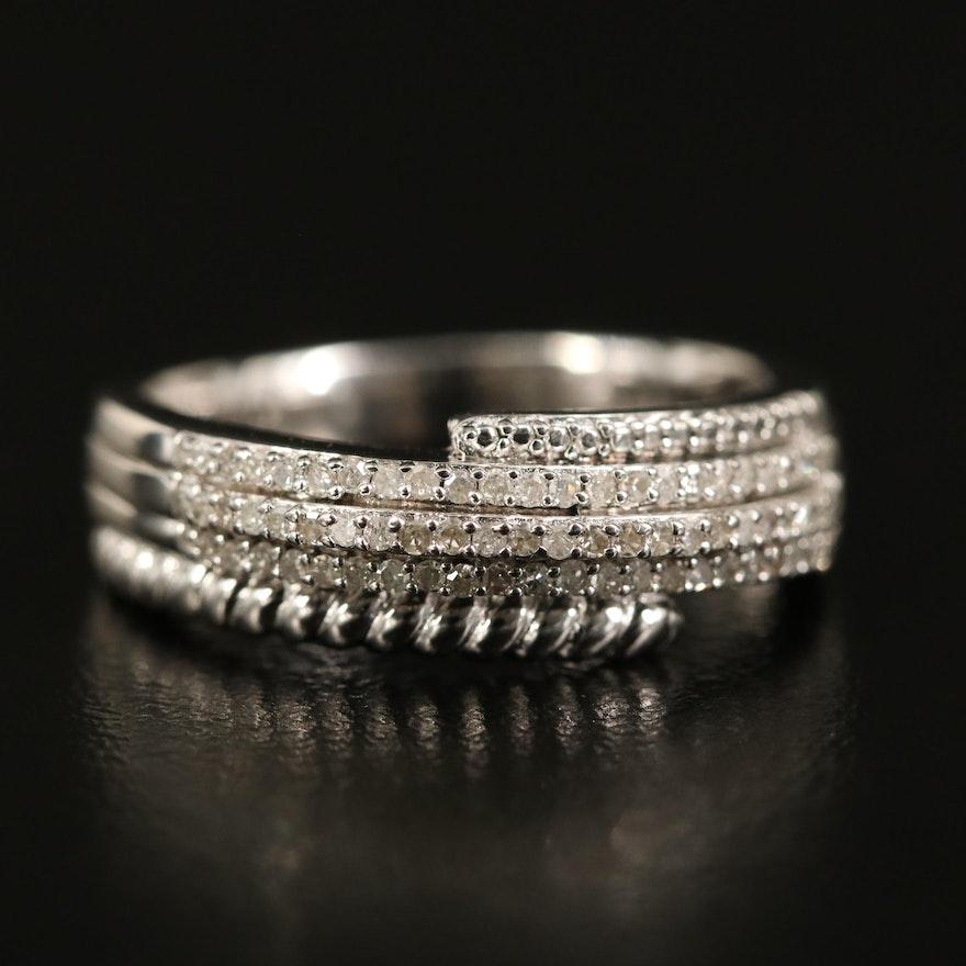 Sterling Diamond Wrap Ring