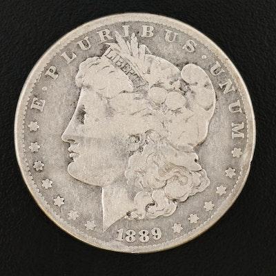 Key Date Low Mintage 1889-CC Morgan Silver Dollar