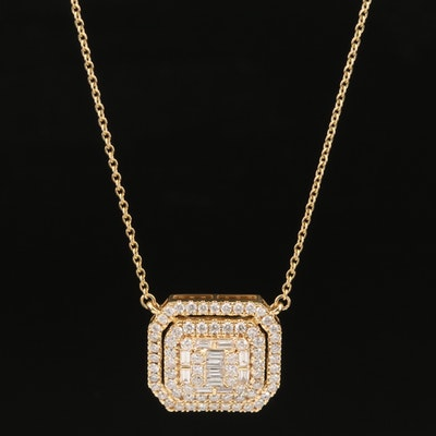 14K 2.10 CTW Diamond Necklace
