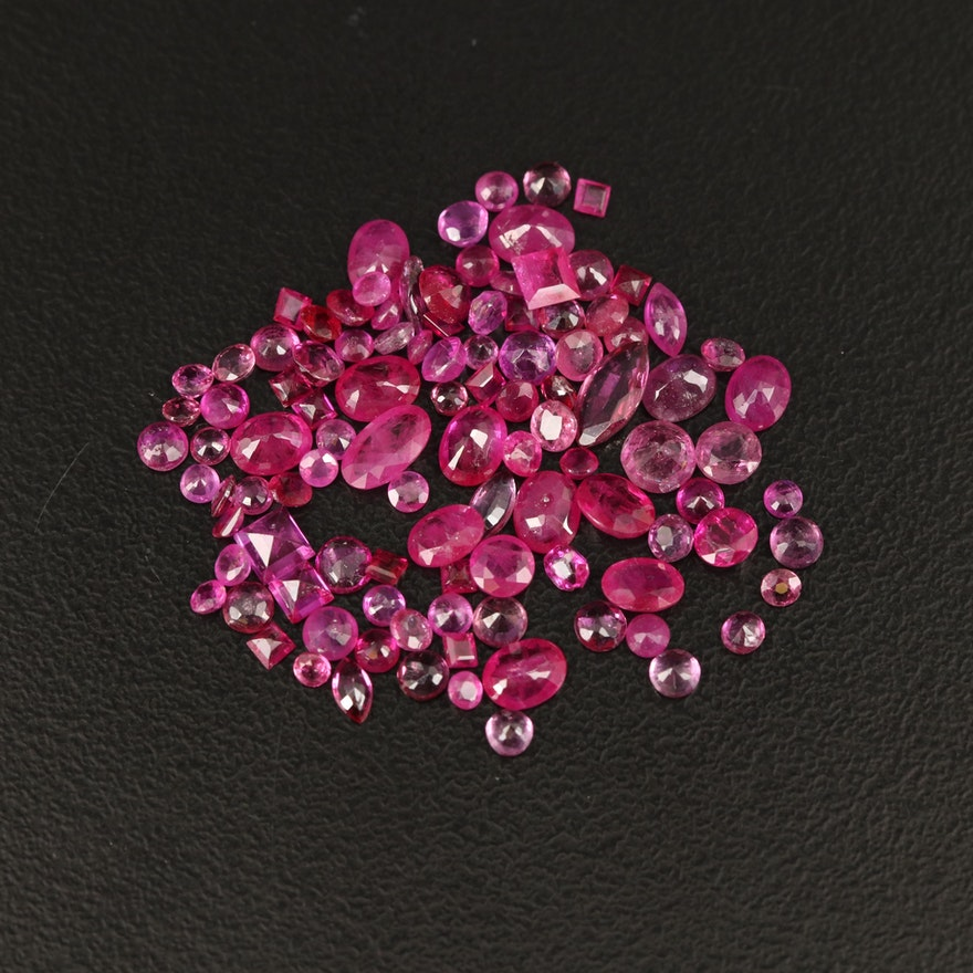 Loose 9.57 CTW Mixed Faceted Ruby