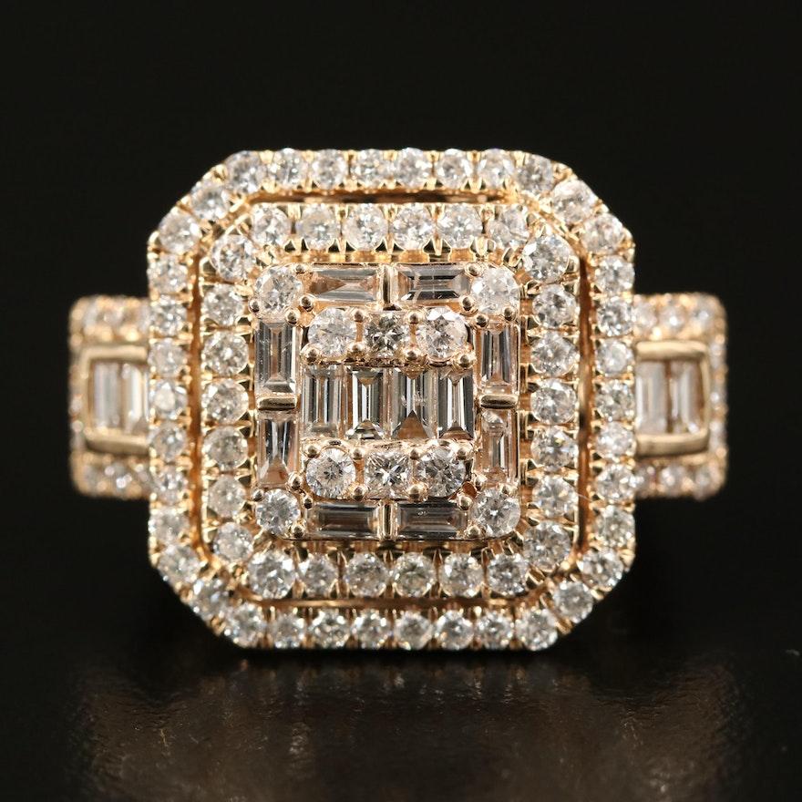 14K 2.39 CTW Diamond Ring