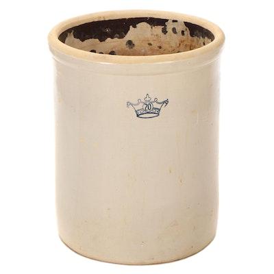 Ransbottom 20-Gallon Stoneware Crock