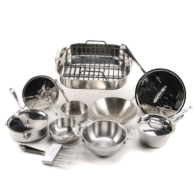 All-Clad Roti Pan Stainless Roaster with Skillets and Pans