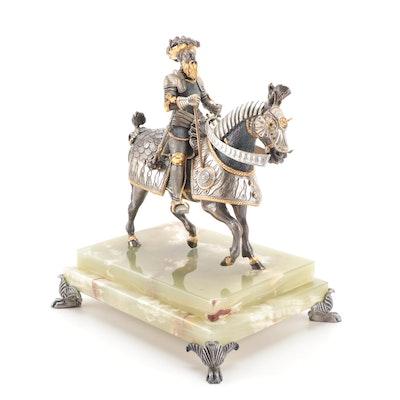 Anna Danesin  Solider on Horseback Figurine, Late 20th Century