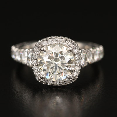 Tacori Platinum 3.96 CTW Diamond Ring