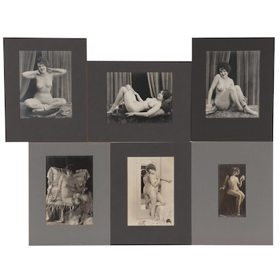 Erotic Female Nude Silver Gelatin Photographs, Early 20th Century