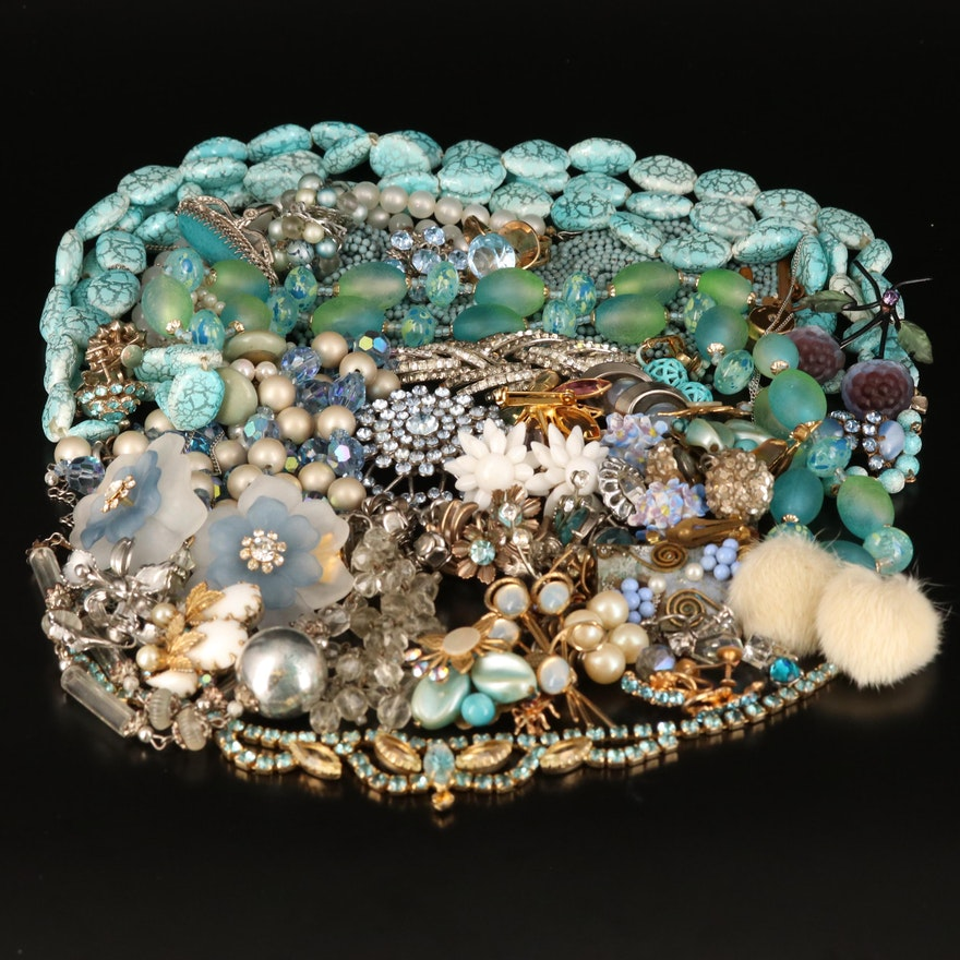 Vintage Jewelry Including Czech Glass and Austrian Crystal