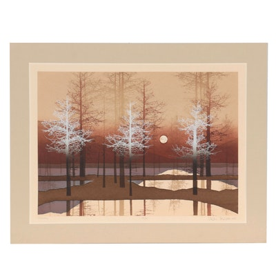 "Virgil Thrasher Serigraph ""Moon Fall,"" 1981"