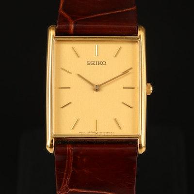 Seiko V700-5K30 Gold Tone Quartz Wristwatch