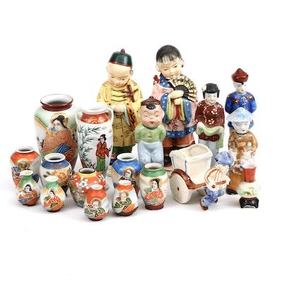 Ucagco Ceramic Figurines with Other Occupied Japan Decorative Accessories