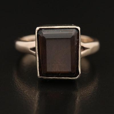10K Smoky Quartz Ring