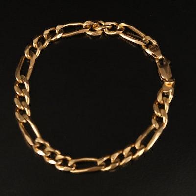 Italian 14K Figaro Link Bracelet
