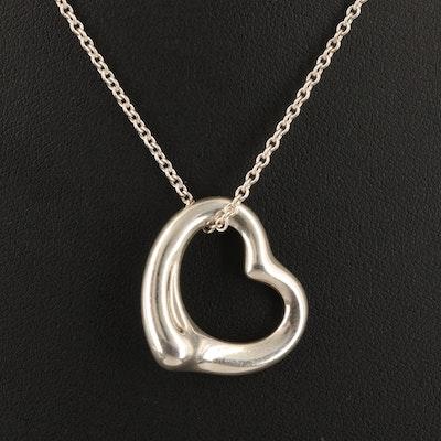 "Elsa Peretti for Tiffany & Co. ""Open Heart"" Sterling Necklace"