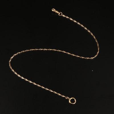 Antique 14K Fancy Link Watch Chain