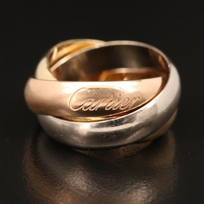 Cartier Tri-Color 18K Rolling Ring