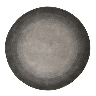 """7'10 Round Hand-Tufted Home Decorators Collection """"Noah"""" Area Rug, 2000s"""