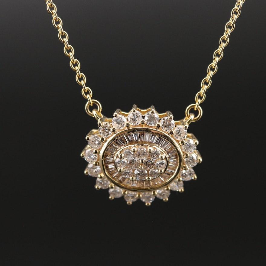 14K 1.25 CTW Diamond Necklace
