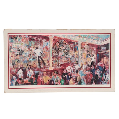 """LeRoy Neiman Offset Lithograph """"F.X. McRory's Whiskey Bar,"""" Late 20th Century"""