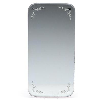 Beveled Dresser Top Mirror Accent, Mid-20th Century