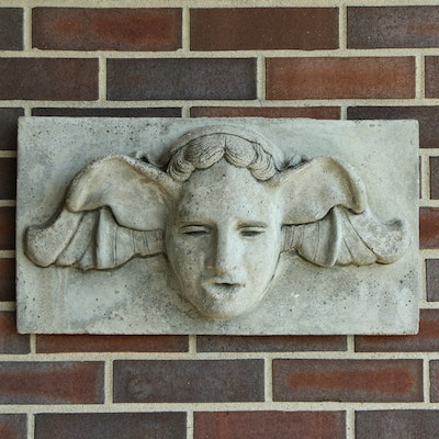 Figural Cement Wall Sculpture, 20th Century