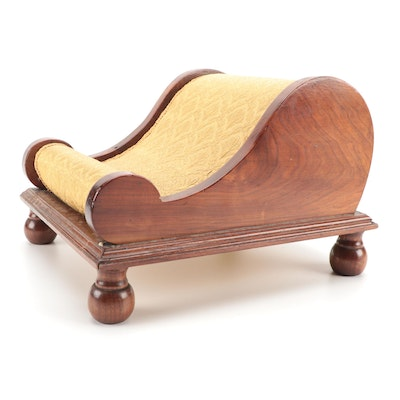 Victorian Walnut Gout Stool, Mid to Late 19th Century