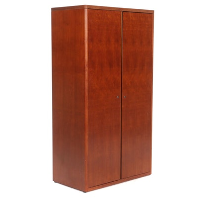 Contemporary Cherry-Stained Armoire