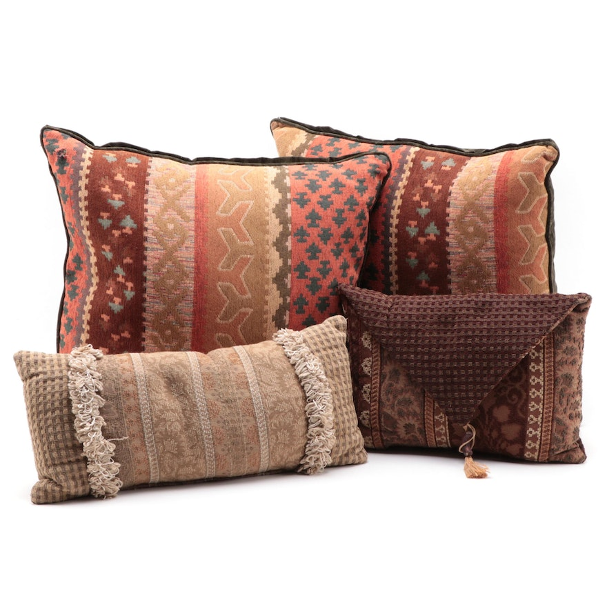Turkish Rug Motif Chenille and Other Throw Pillows