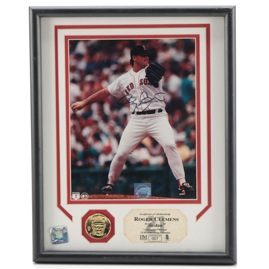 """Highland Mint Roger Clemens """"Rocket"""" Signed Limited Edition Photo Print, 1990s"""