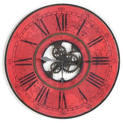 "Howard Miller ""Brass Works"" Oversized Wall Clock"